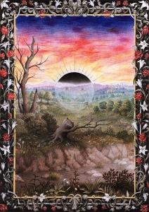 Laurie Lipton, alchemy, splendor solis, pencil drawings