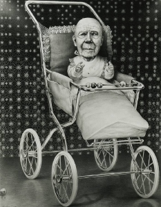 Laurie Lipton, drawing, pencils, second childhood