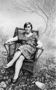 Laurie Lipton, pencil, drawing, the garden of edith