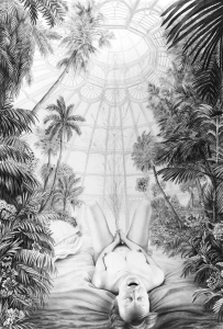 Laurie Lipton, pencil, drawing, Climax