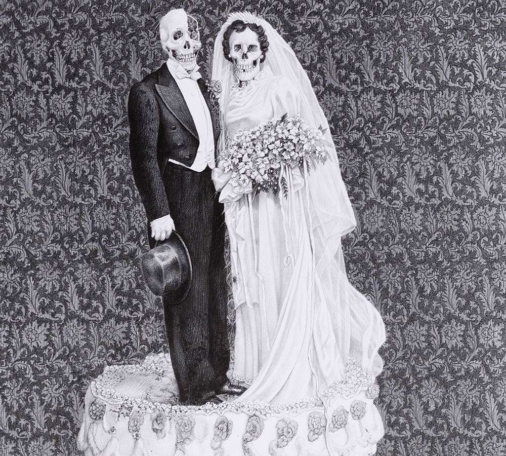 Laurie Lipton, pencil, drawing, Amor Eterno