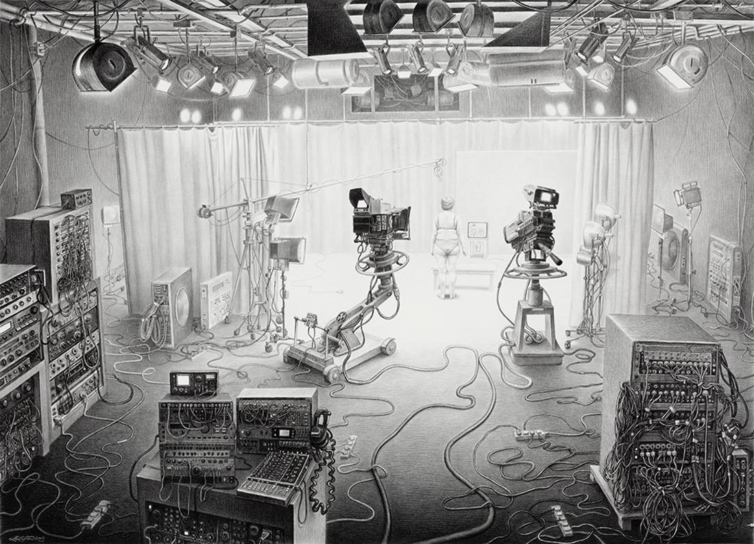 Laurie Lipton, pencil, drawing, Reality TV