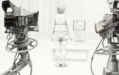 Laurie Lipton, pencil, drawing, reality tv detail