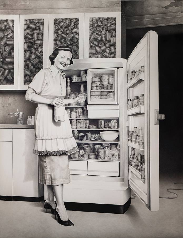 Laurie Lipton, pencil, drawing, off