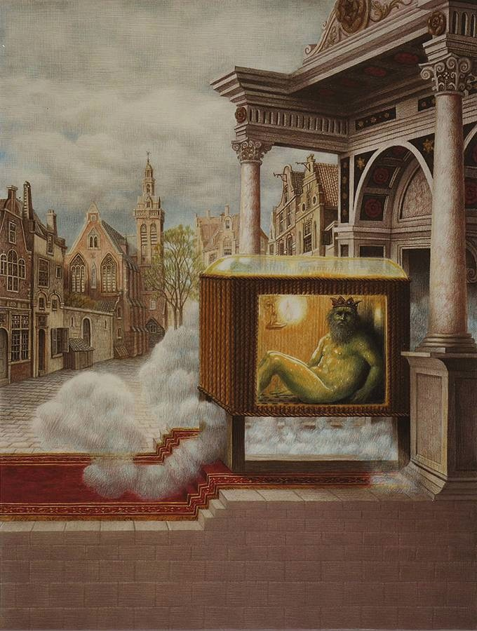 Laurie Lipton, alchemical, mystical, atalanta fugiens, pencil drawings