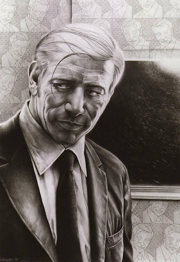 Laurie Lipton, portrait, pencil drawing