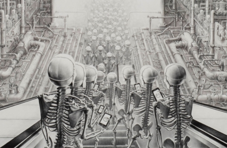 Laurie Lipton, drawing, Happy detail